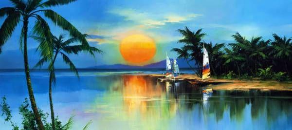 'Tropical Sunset' by Hong Leung