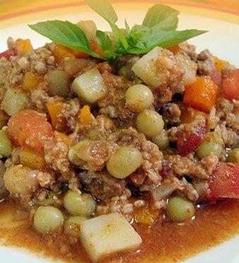 picadillo recipe Mexican authentic food dish Picadillo Recipe Mexican Style with Ground Beef (Picadillo de Res)