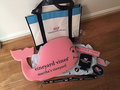 Vineyard Vines Gift Pack (Whale Hat, Lanyard, Whale Stickers, Drink Hugger, etc)