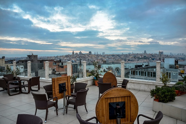 View of Galata district from Neorion Hotel in Istanbul Turkey by mbell1975, via Flickr