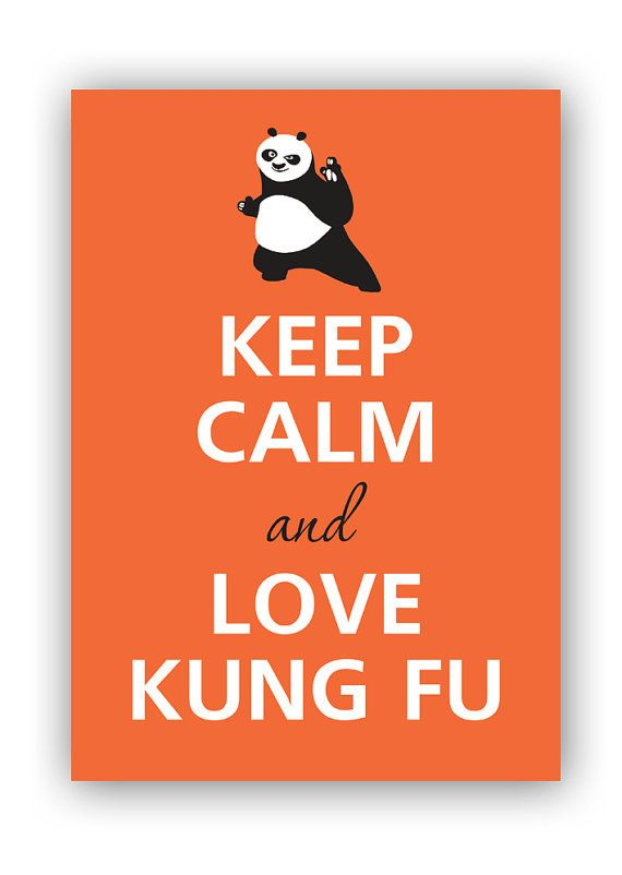 Keep calm and love kung fu by KCalmGallery on Etsy