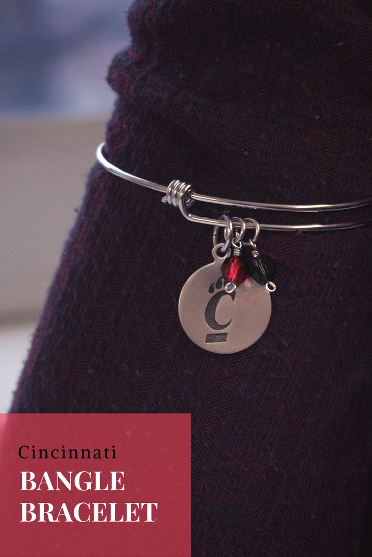 University of Cincinnati Adjustable Bangle Bracelet