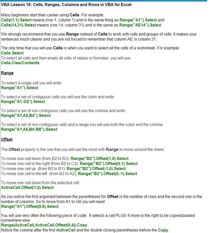 53 best Excel VBA Macros \ Codes images on Pinterest Macros - vba programmer sample resume