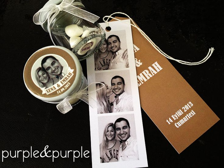 Fotoğraflı Kitap Ayracı Düğün Davetiyesi / Kitap ayracı davetiye / bookmark Wedding invitation / cam kavanoz nikah şekeri / fotoğraflı nikah şekeri