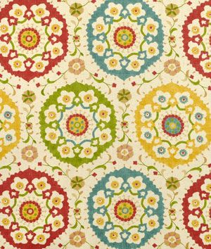 Love this fabric:  Richloom Cornwall Garden Fabric: Kitchen Window Treatments, Color, Living Room