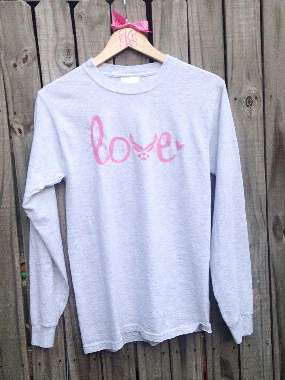 Air Force Love Long Sleeve Tshirt Air Force girlfriend, mom, fiancé, sister, wife on Etsy, $20.00