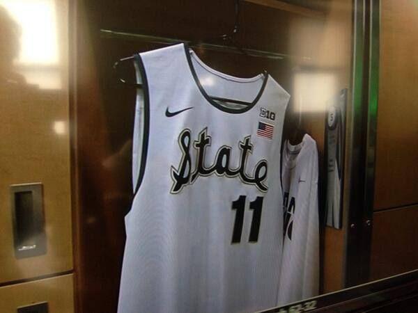Throwback uniforms for MSU - UM game Jan. 25    GO GREEN