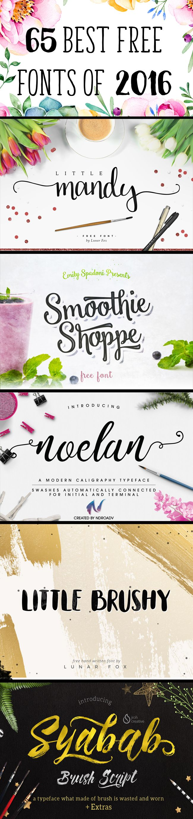 65 Best Free Fonts of 2016 2016 has been a fabulous year for free fonts! And to make sure you didn't miss any of my favorites, I've rounded up all I could find here for your convenience! With all these beauties all in one place,my mind could only wander and think of what 2017 has …
