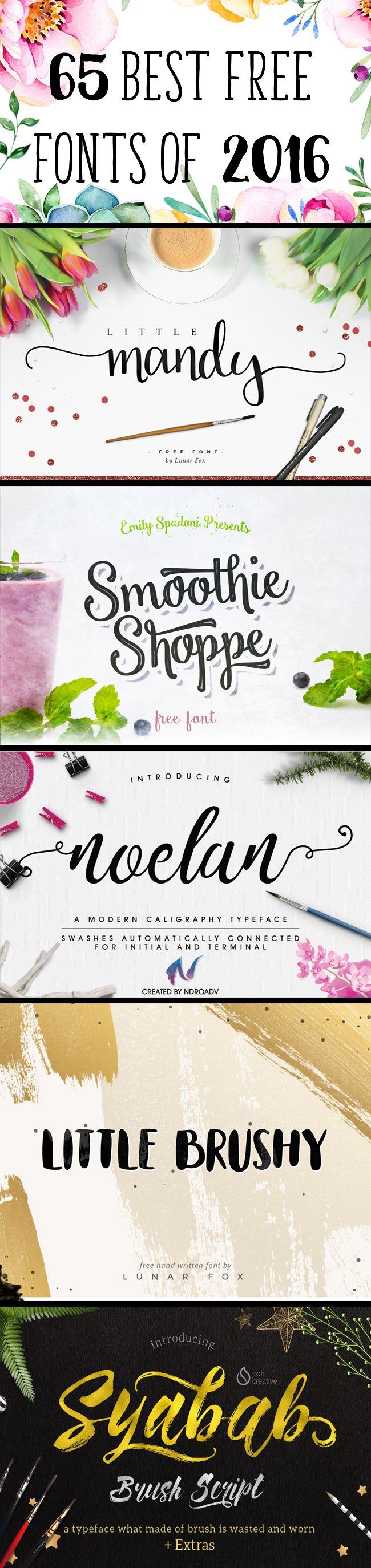 65 typographies différents styles et gratuits. #typographie #fonts - margauxduprat.com -