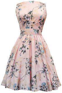 Pastel Pink Floral Tea Dress