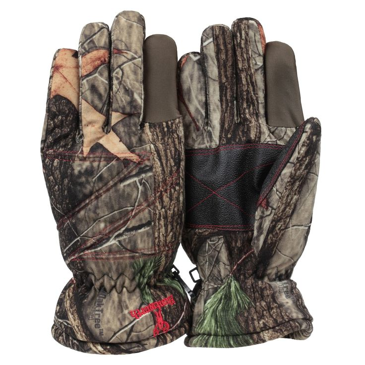 Huntworth Camouflage Reinforced Hunting Gloves - Men, Brown
