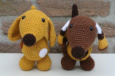 Free Crochet Pattern Wiener Dog : DIY Amigurumi Dachshund - FREE Crochet Pattern / Tutorial ...