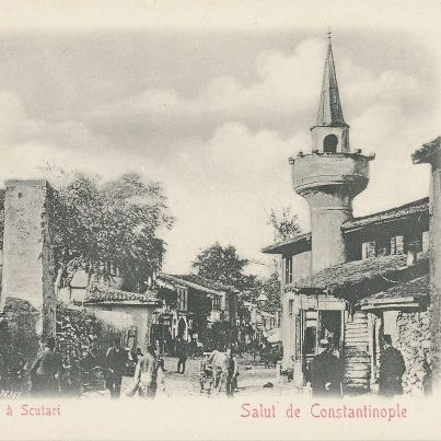 Scutari, constantinople - Osmanlı dönemi üsküdar çarşısı.