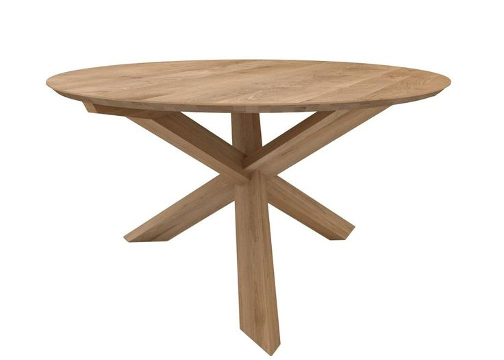 Ethnicraft Circle Dining Table In Oak Natural #globewest #ethnicraft  #dining #table