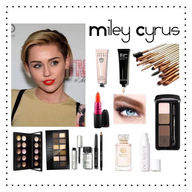 """Miley Cyrus' make up"" by alejandra-rodriguez-villalpando on Polyvore featuring MAC Cosmetics, Bobbi Brown Cosmetics, Eve Lom, Tory Burch, Maybelline, women's clothing, women's fashion, women, female and woman"