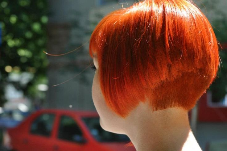 Red Bob With Short Nape Short Hair Styles Pinterest