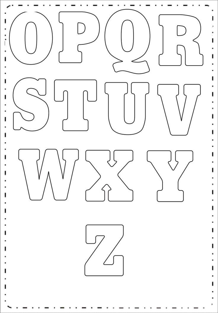 25+ melhores ideias de Molde de letras grandes no