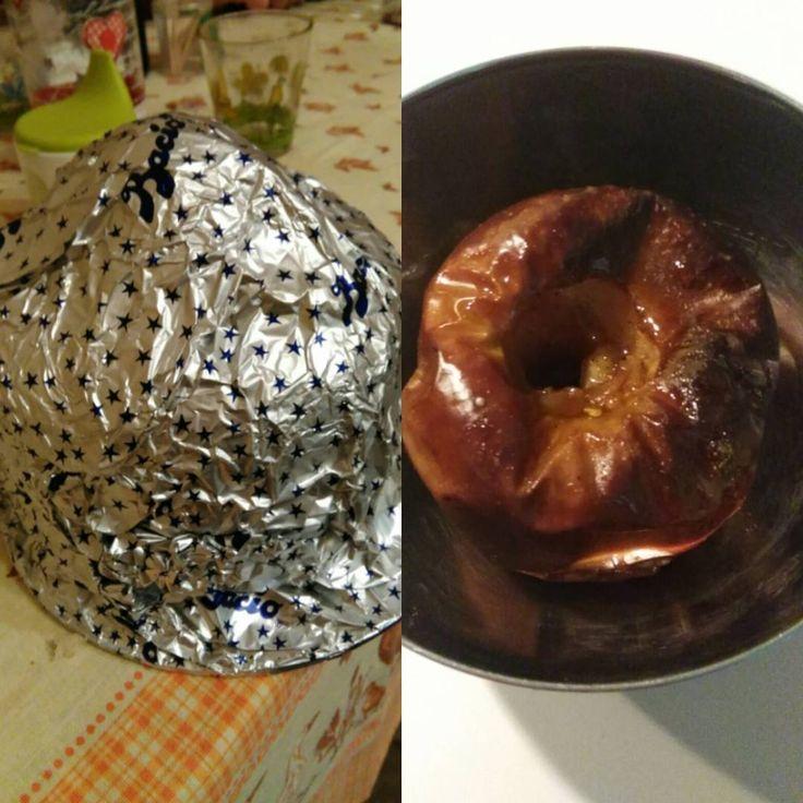 Sabato sera in compagnia... Gli altri Bacio gigantesco/ Io Deliziosa Mela cotta con cannella!  #salute  #salud #dieta #deliciosa #dulce #dolce #dolci #delizieperilpalato #mela #manzana #comersano #mangiaresano
