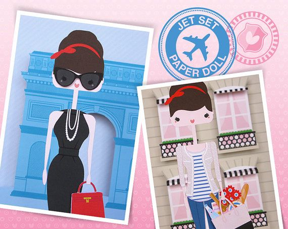 Paris - Jet Set Paper Doll - PDF download