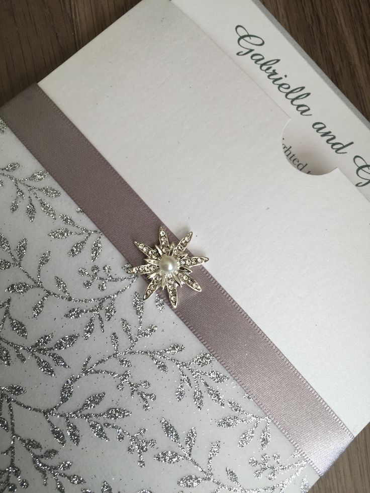 Sparkle and Shine Luxury wedding invitation