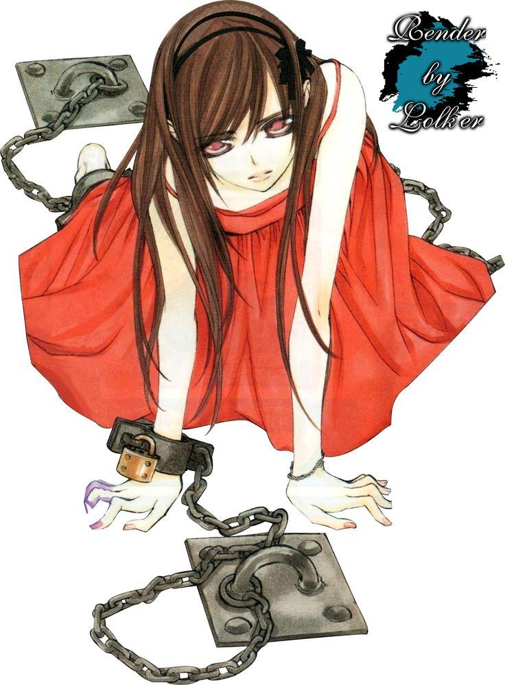 Render Vampire Knight - Renders Yuuki Yuki Vampire Knight Robe Rouge Noeud Serre tete Chaines Cadenas Attacher Bracelet