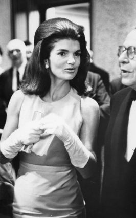 Jackie Kennedy attending an opening at the Whitney Museum in New York, 1966.
