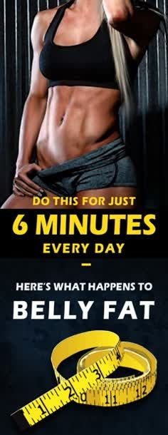 Do This For Just 6 Minutes Every Day – Here's What Happens To Belly Fat ! #just #do #this #and #see #what #happens