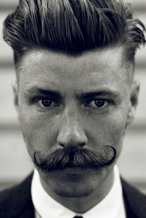 Hair and moustache style