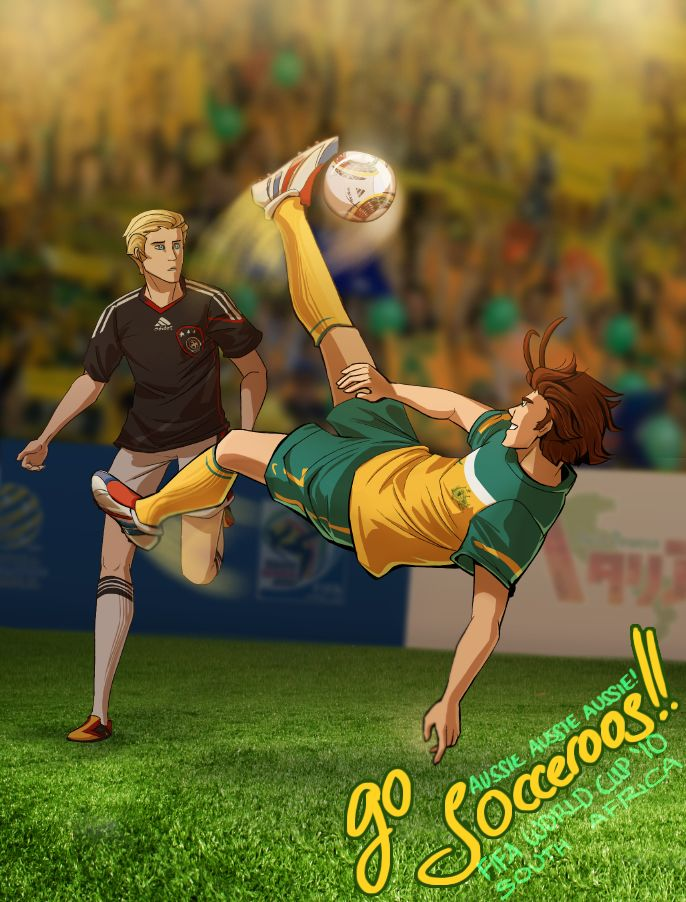 oi oi oi by scrii.deviantart.com on @deviantART - Ralph (head-canon name for Australia) vs. Ludwig in the 2010 FIFA World Cup