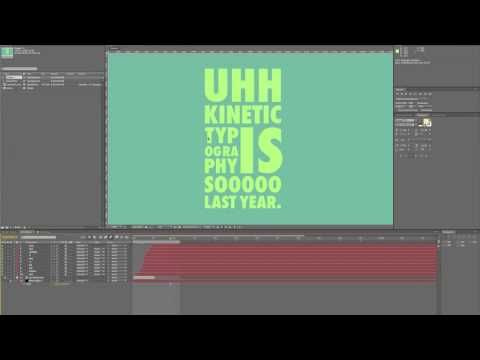 Decent Kinetic Typography Tutorial Incase We Decide To Do
