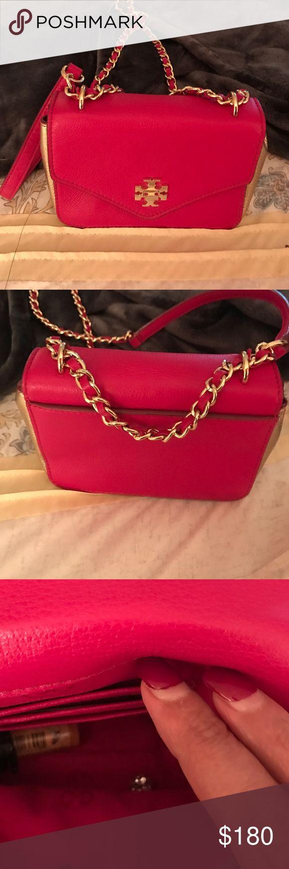 Pink Tory butch bag Worn five times only Tory Burch Bags Mini Bags