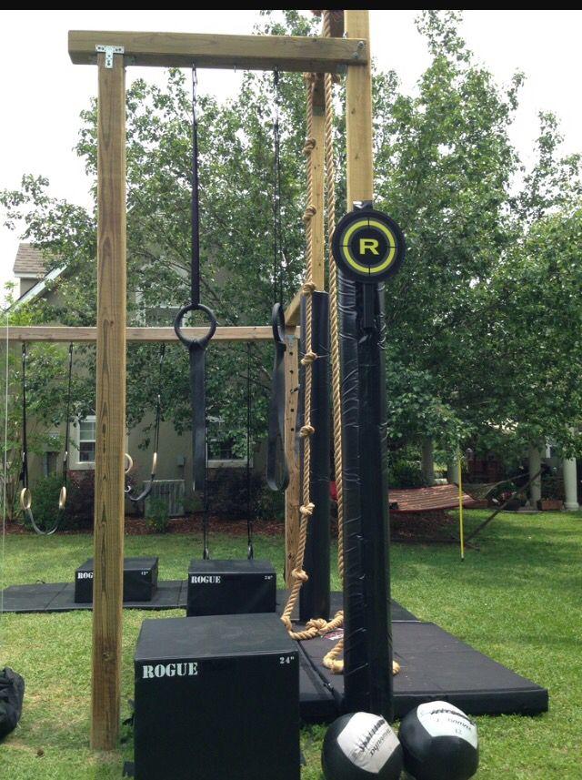 Garden crossfit rig