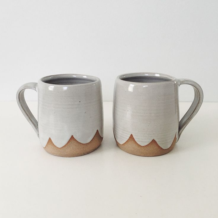 Pair of Cloud Ceramic Mugs, white wheel thrown coffee cup coffee mug, stoneware ceramic white pottery by TheLuluBird on Etsy https://www.etsy.com/listing/510659385/pair-of-cloud-ceramic-mugs-white-wheel