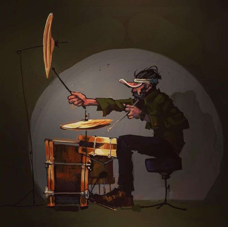 Drummer 3 #procreate #digitalpainting# #indierock# #drummer #illustration #music #drumikit