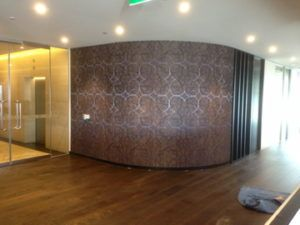 ColourFuse Wallpaper Installation - curved wall installation