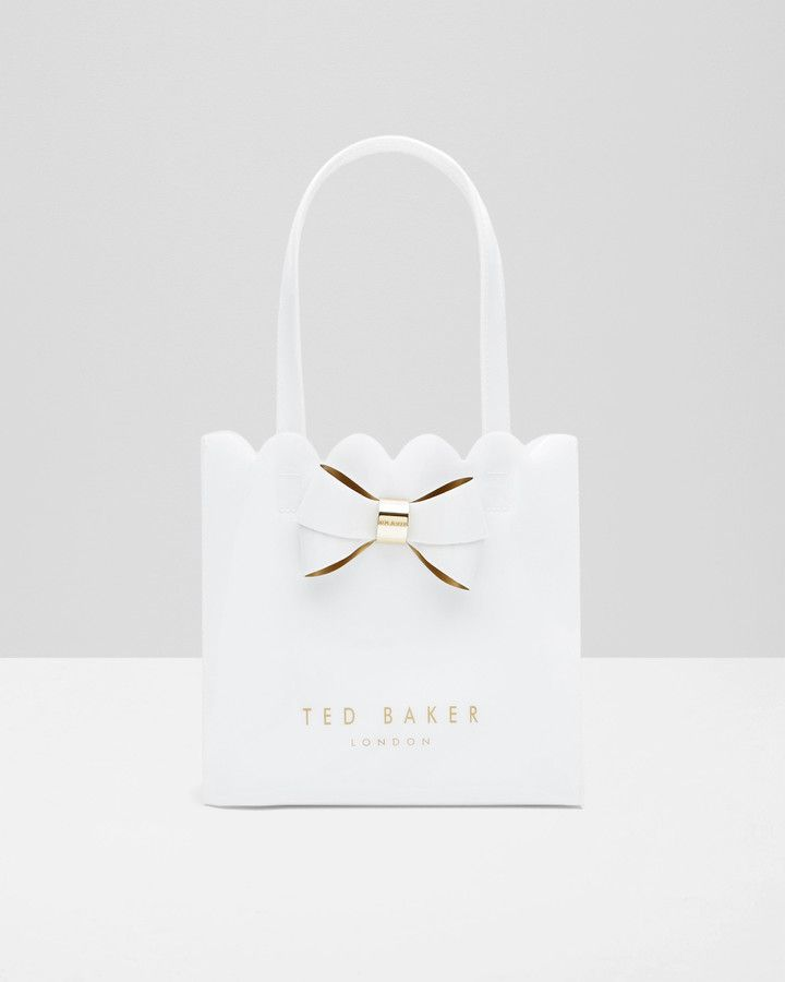 Ted Baker Small bow scalloped shopper bag