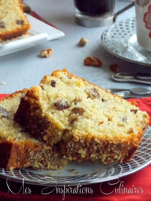 Cake moelleux au café et aux noix de pécan