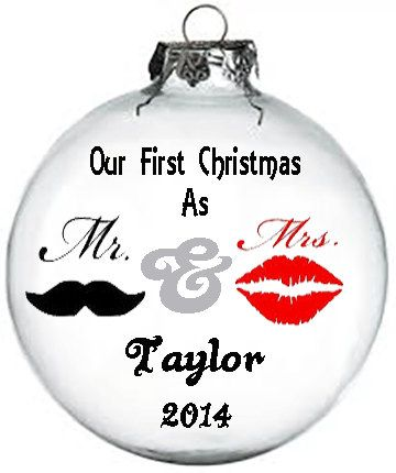 Personalized Our First Christmas ornament by KikisKornerSC on Etsy, $12.00