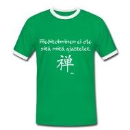 Meditointi ei ole sitä mitä ajattelet! T-paidat ~ Miesten kontrastipaita ~ Tuotenumero 24590992