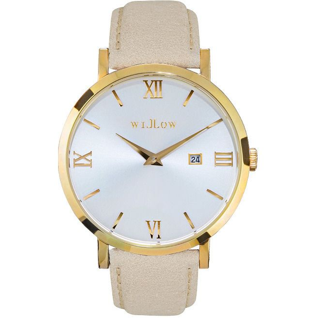 Willow Napoli Watch in Gold w/ Beige Leather Strap | Buy Women's Watches