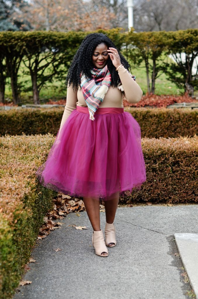 54f2f8dcb8 Plus size Tulle Skirt- How to wear a tutu skirt by Mycurvesandcurls.com