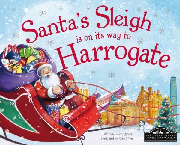 Santa's Sleigh is on its way to Harrogate! The perfect Christmas gift for children, a delightful picture story book featuring lots of local places and landmarks that the young reader will recognise.