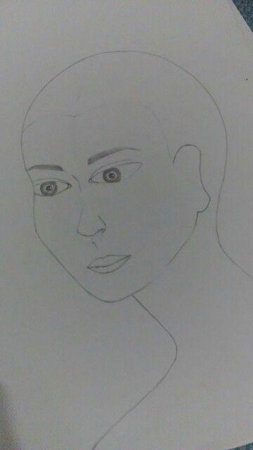 Proporsi Wajah 3/4 Bagian Ukuran: 3/4 Tinggi Kepala