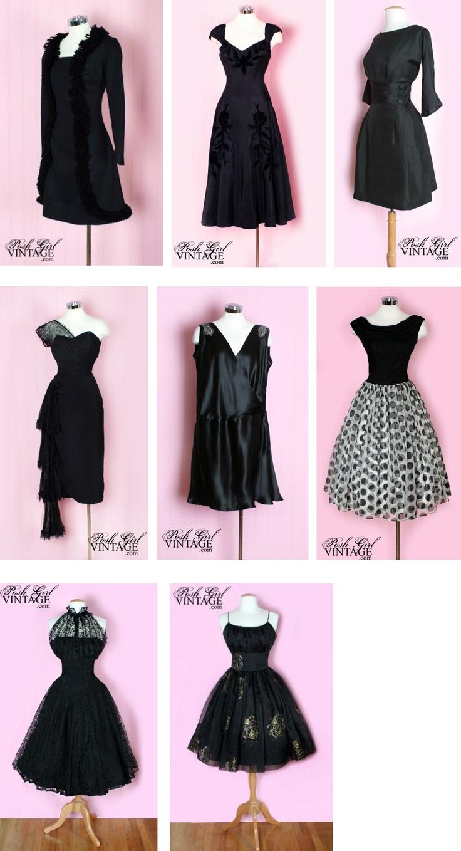 Black dress vintage - Vintage