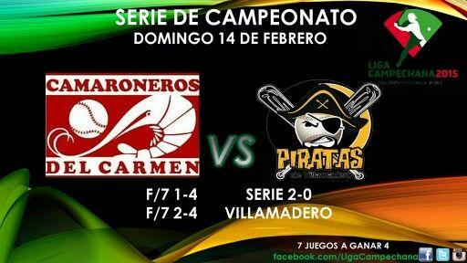 Resultados de la doble cartelera de ayer en Villamadero de la Serie Final de la Liga Campechana.