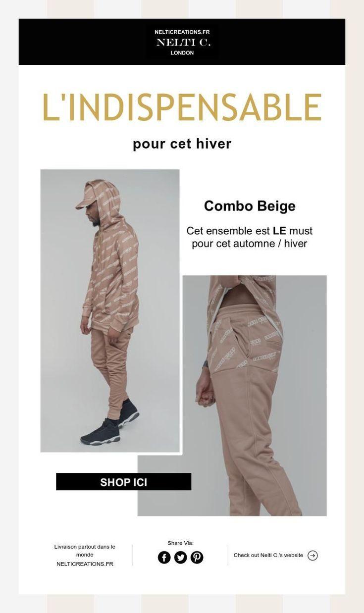 L'INDISPENSABLE pour cet hiver combo beige / survetement camel / ensemble jogging beige  www.nelticreations.fr