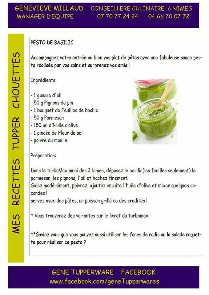 Tupperware salé - Pesto basilic