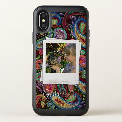 Fun Custom Paisley Floral Pattern Your Name Photos - monogram gifts unique design style monogrammed diy cyo customize