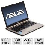 "ASUS 14"" U46E-BAL6 Refurbished Notebook PC Intel Core I7-2620M 2.7GHz, 8GB DDR3, 750GB HDD, DVDRW – $599.99 + Free Shipping – TigerDirect Deals"