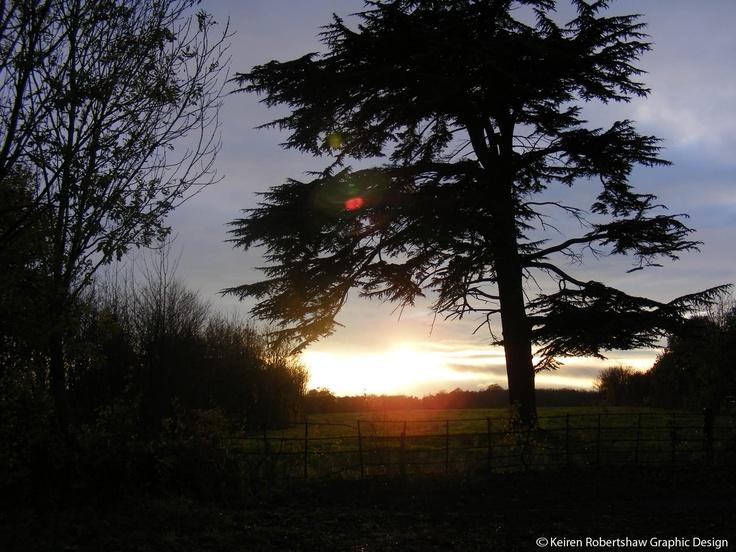 Sunset at Cusworth Hall
